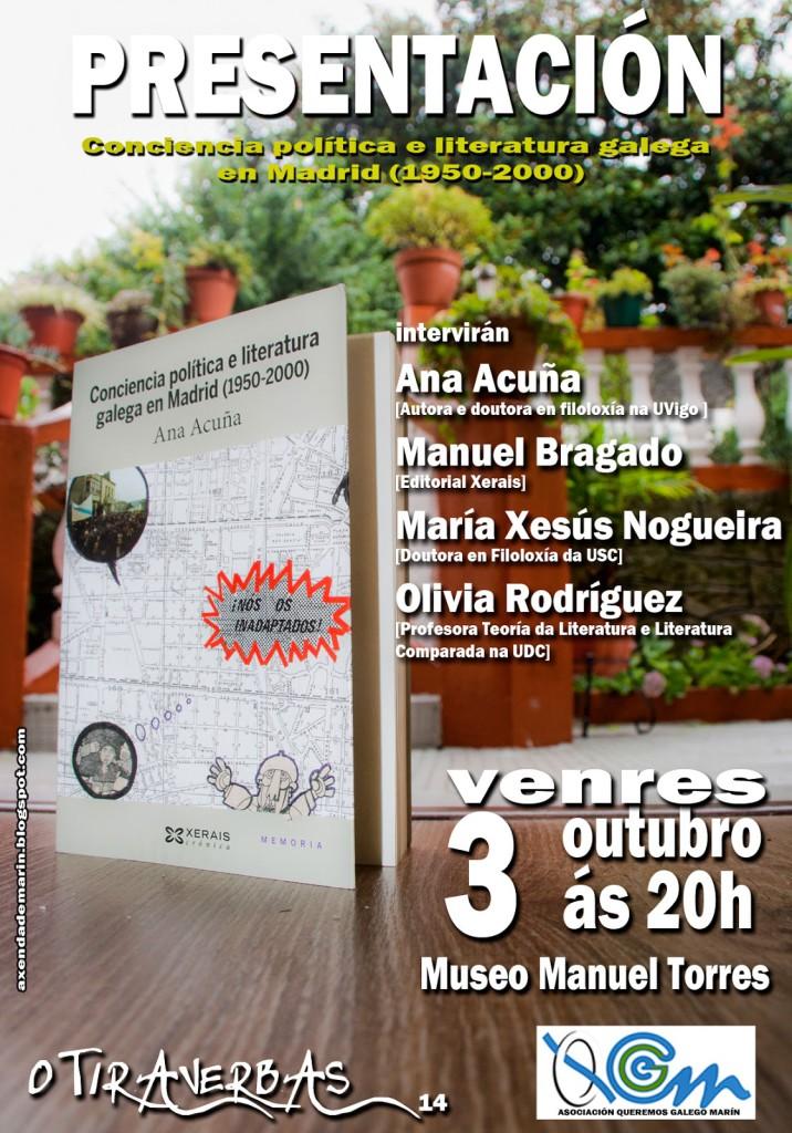 Cartaz acto Ana Acuña