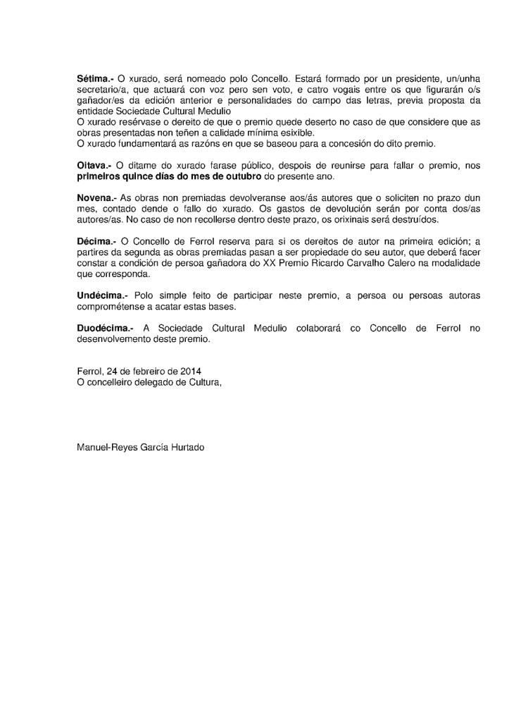 Premio Carvalho Calero 2014 2