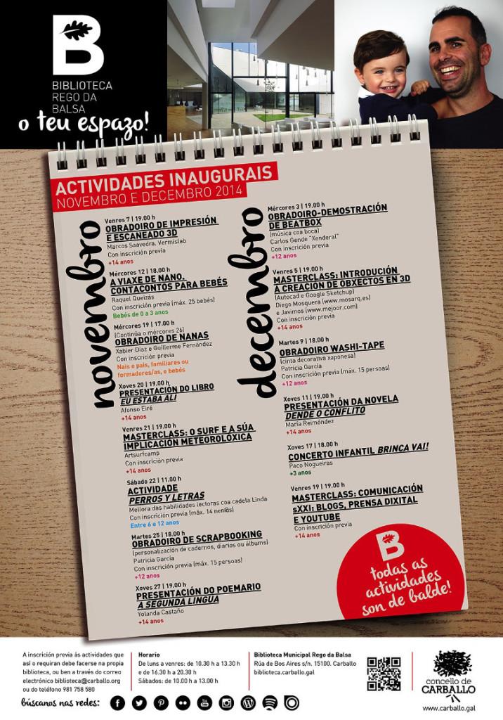 Cartel_actividades_inaugurais_Biblioteca_nov-dec_2014