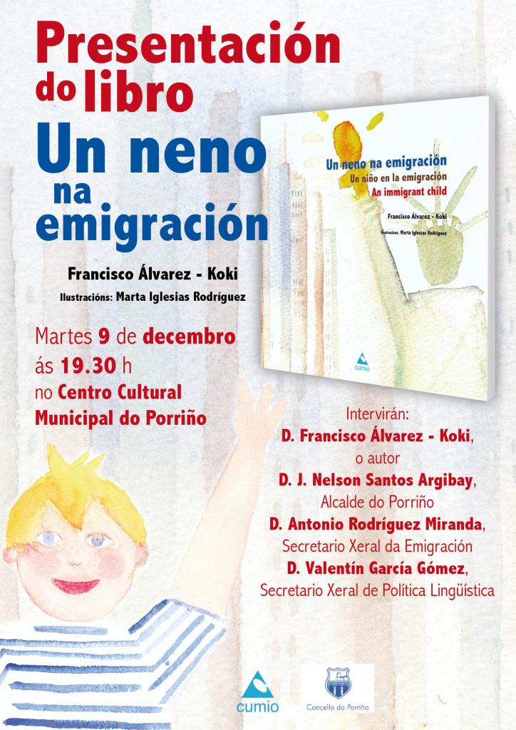 Cartaz Un neno na emigracion
