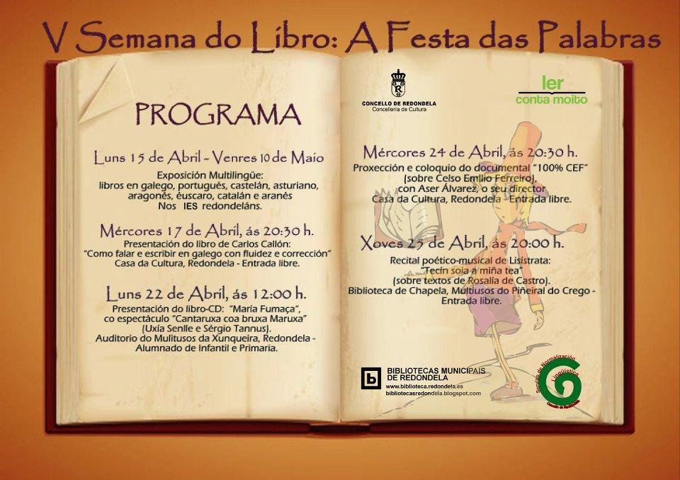 A FESTA DAS PALABRAS_Bibliotecas de Redondela (V semana do libro) - copia