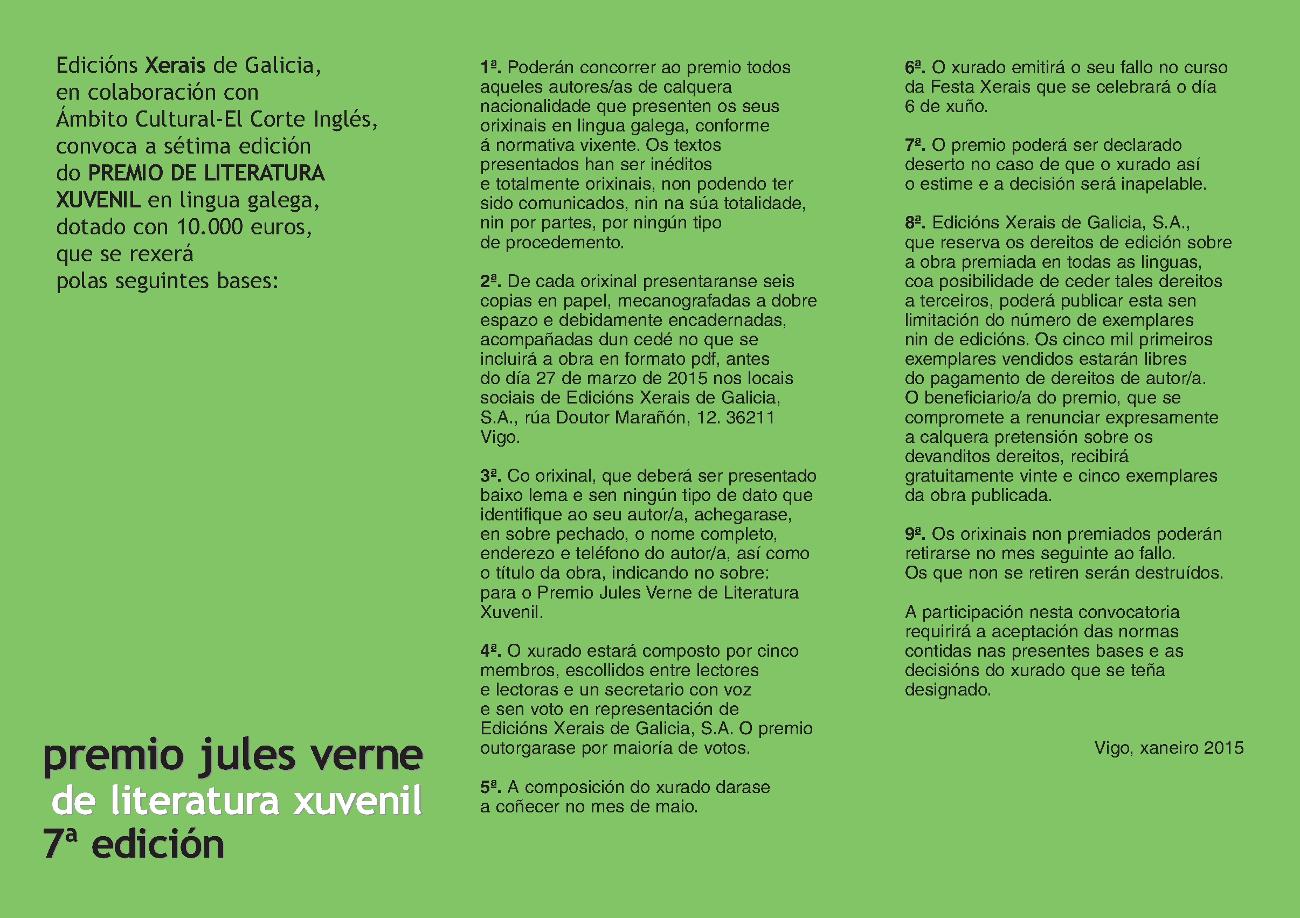 Premio Jules Verne 2015 2