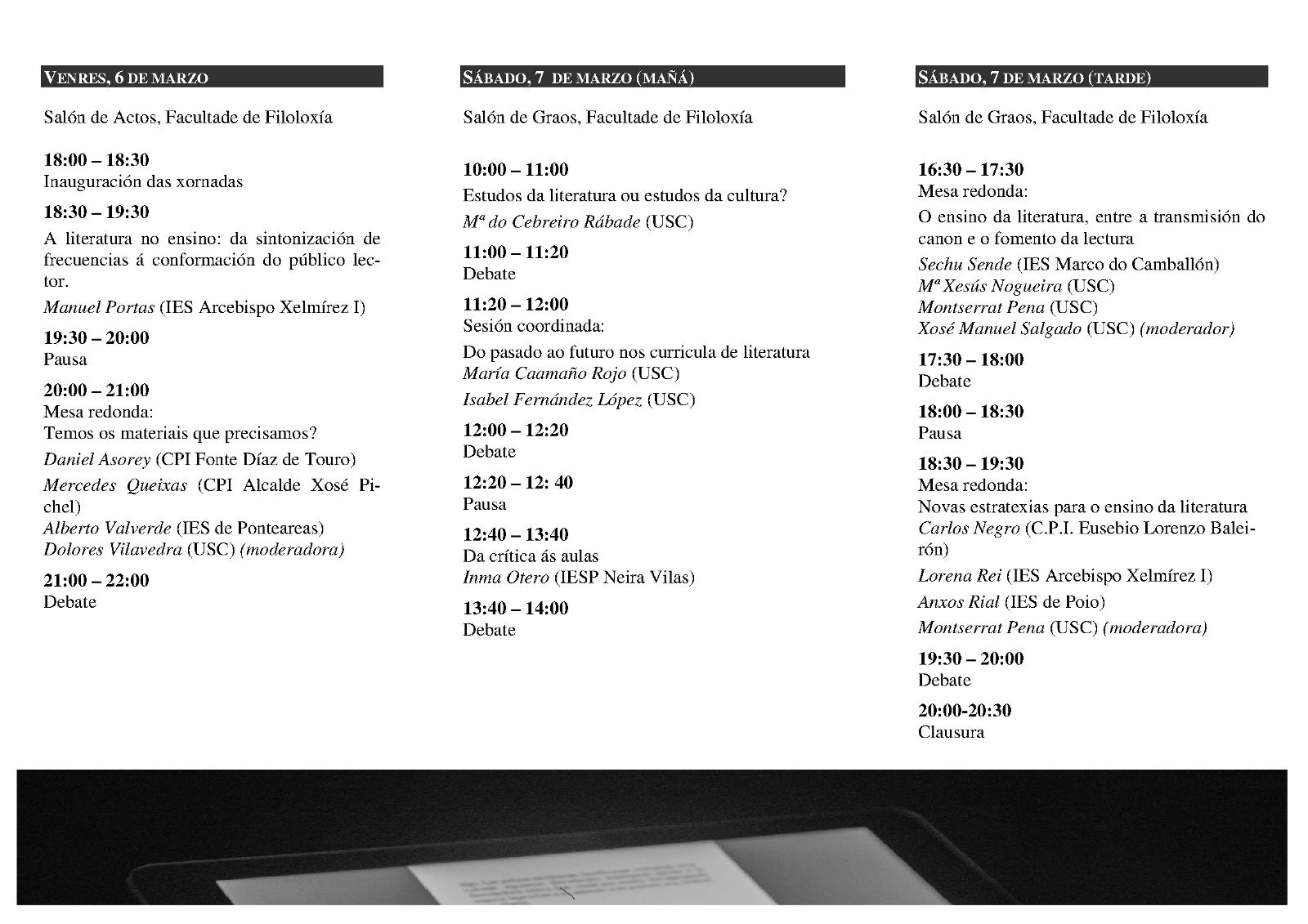 II Xornadas Lingua e Literatura galega no ensino 2