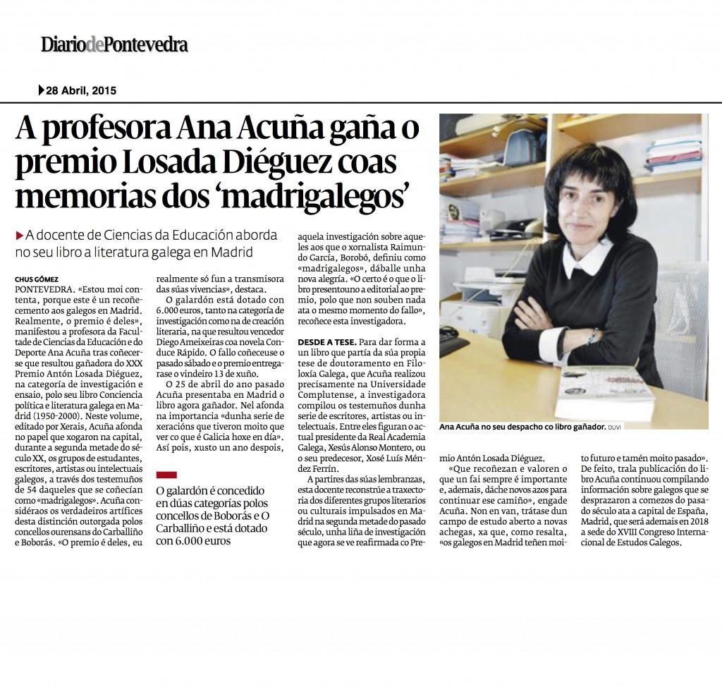 Ana Acuña Diario de Pontevedra