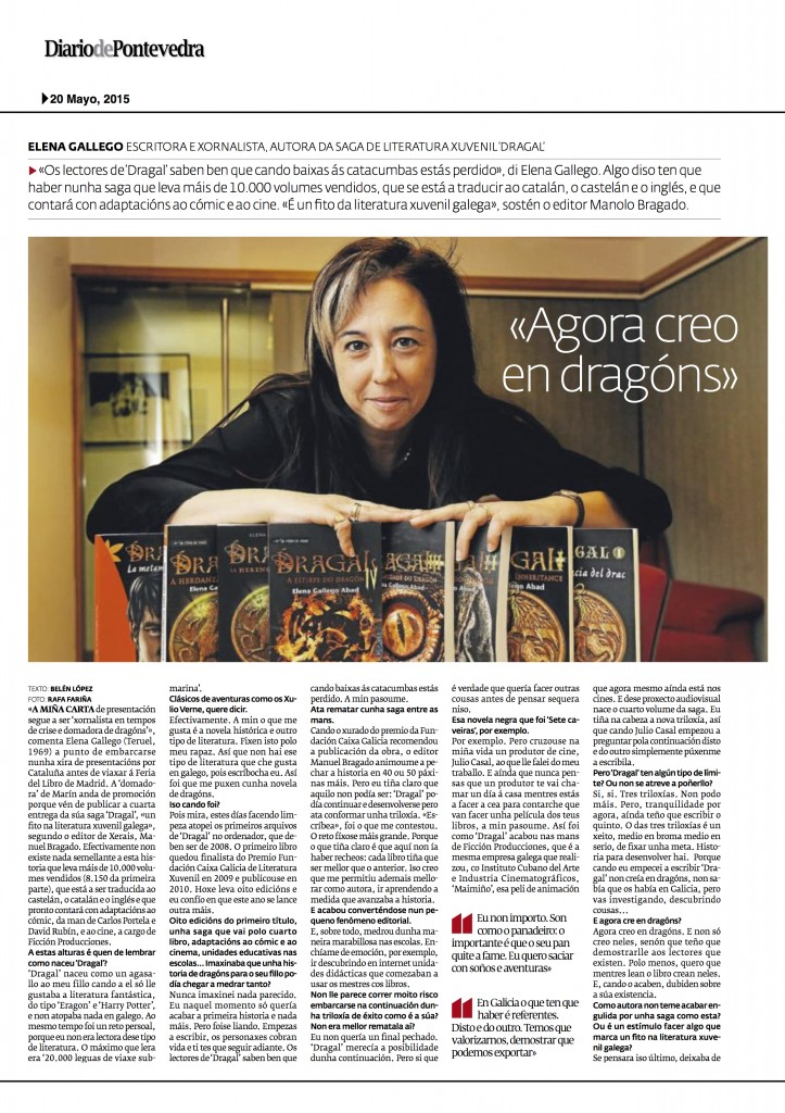 Elena Gallego Diario de Pontevedra