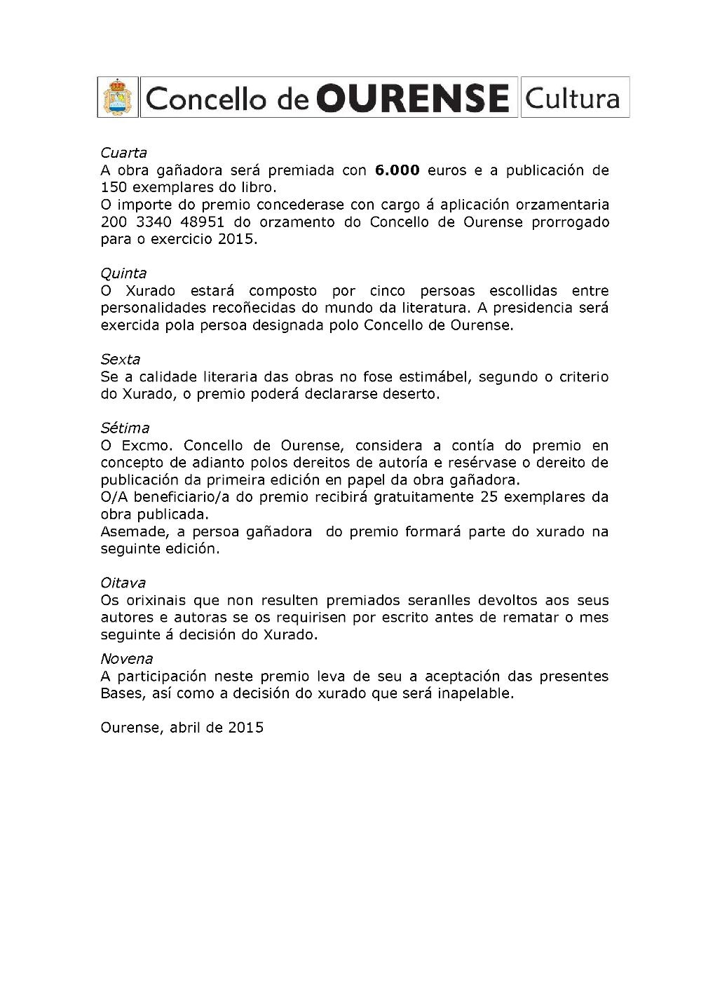 Premio Risco Creación Literaria 2015 2