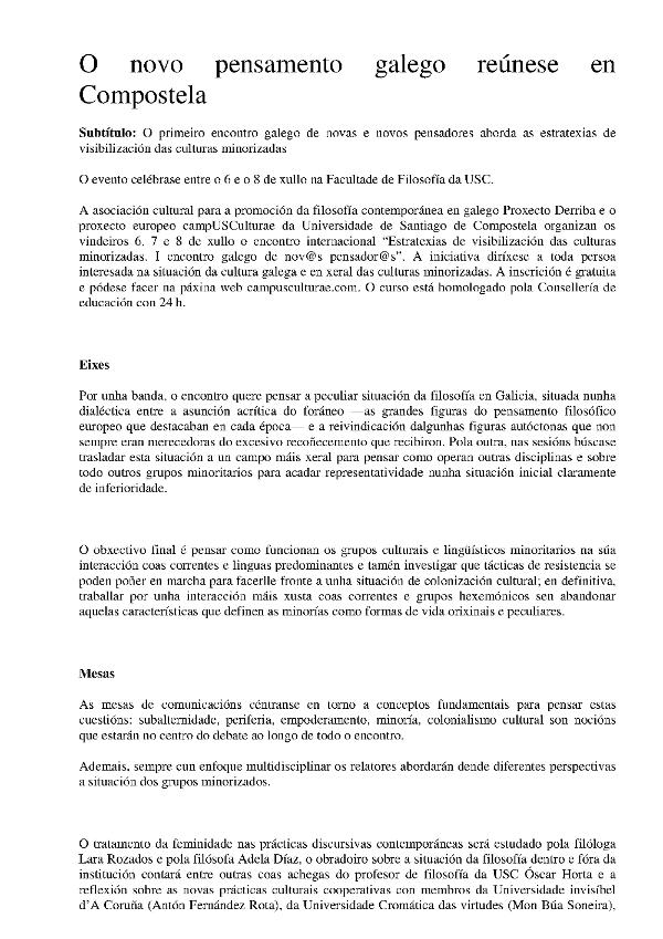 Novo pensamento galego 2015 07 1
