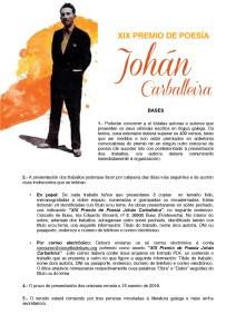Bases Premio Johán Carballeira poesía 2015 1