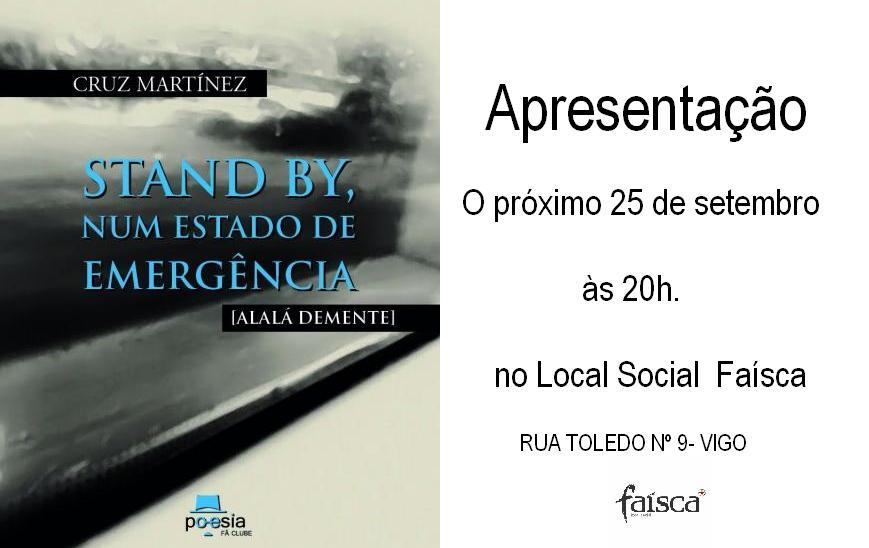 CARTAZ para apresentação do 25 de setembro no Faísca (Cruz Martínez)