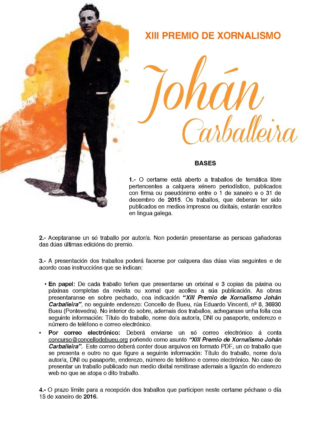 Premio Johán Carballeira xornalismo 1