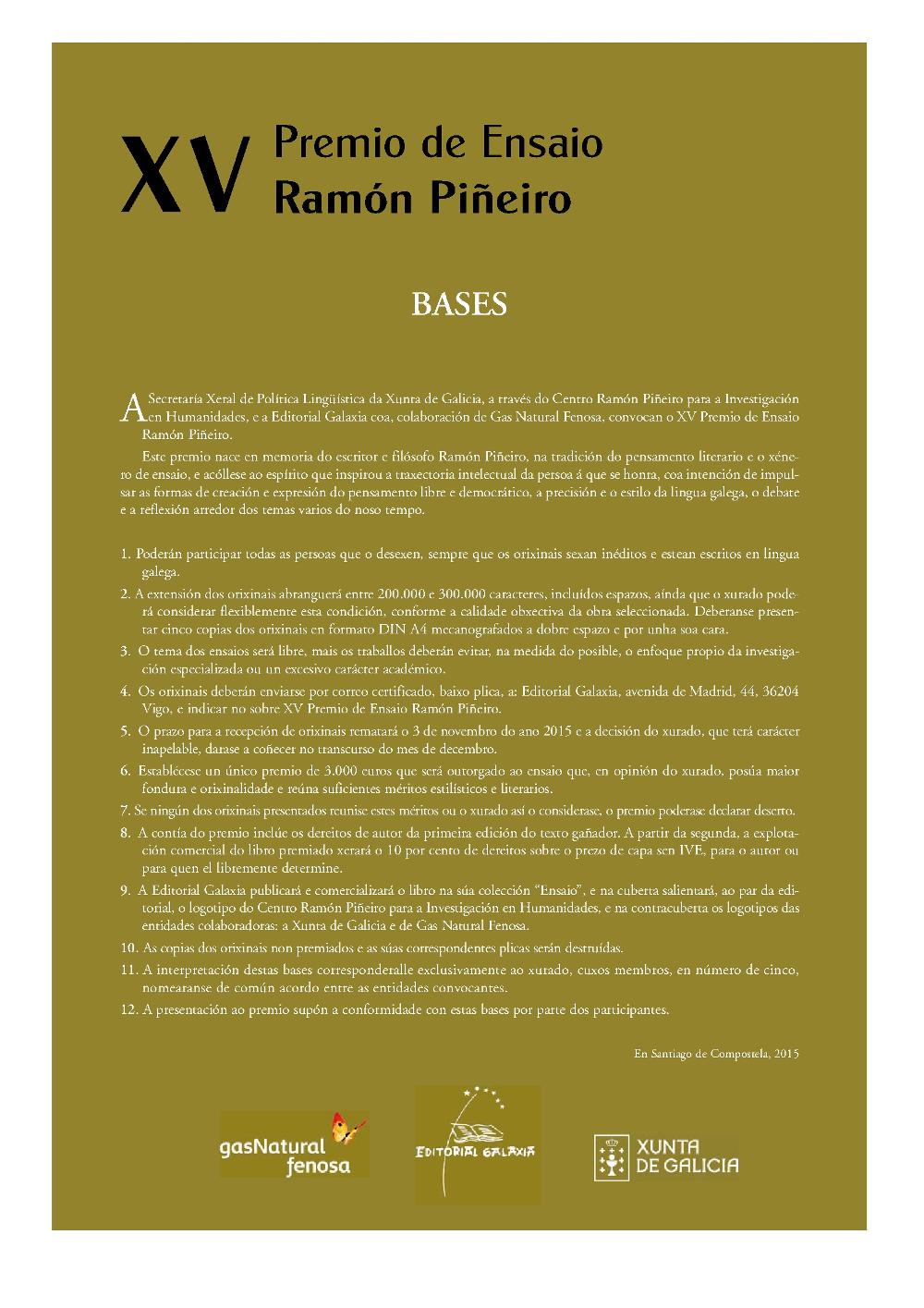 Premio Ramón Piñeiro 2015
