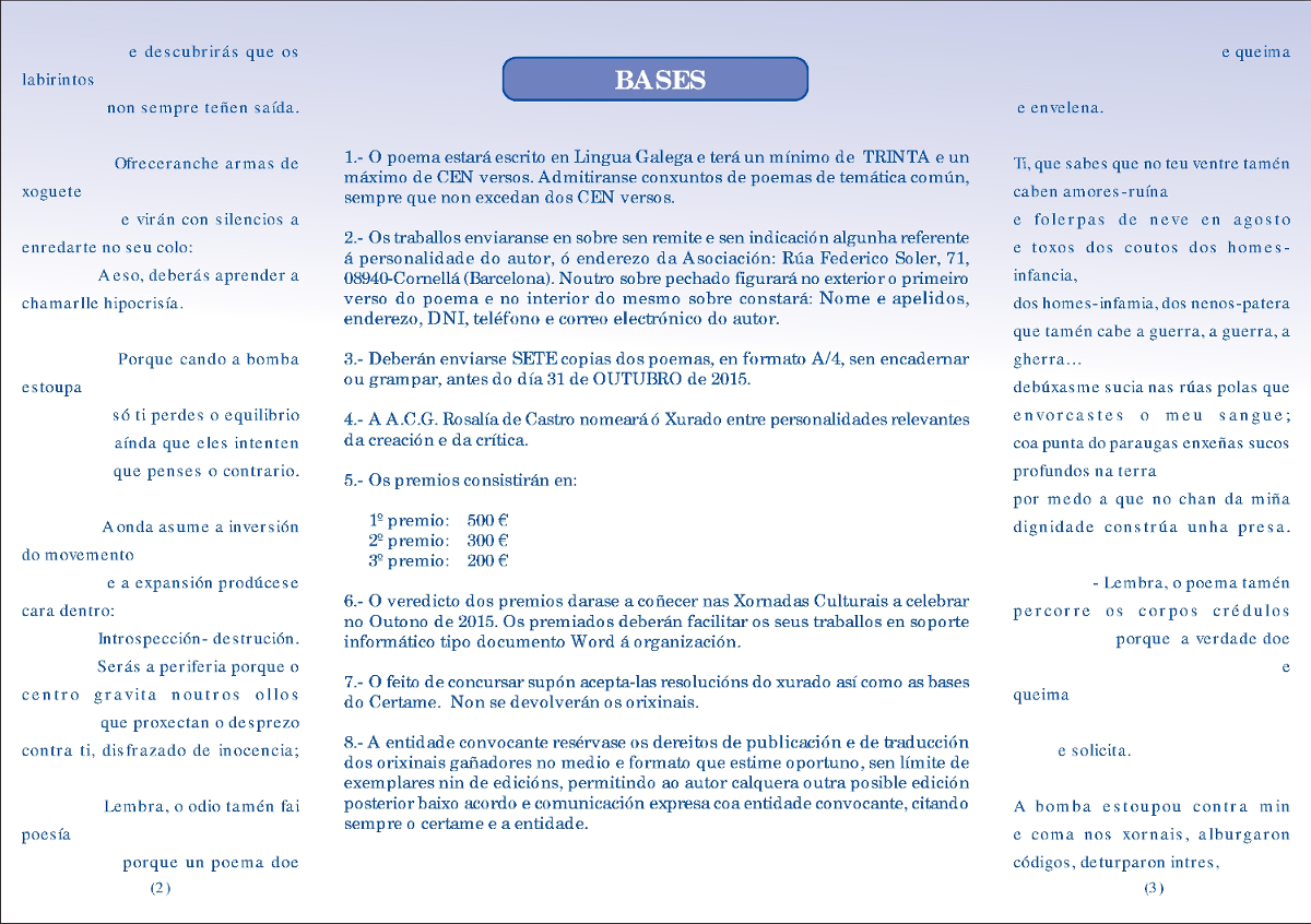 XXIX Certame Rosalía 2