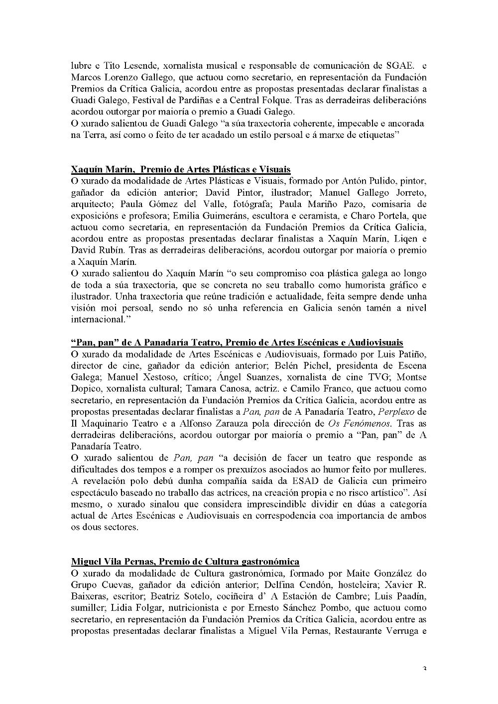 Premios da Crítica Galicia 2015 3