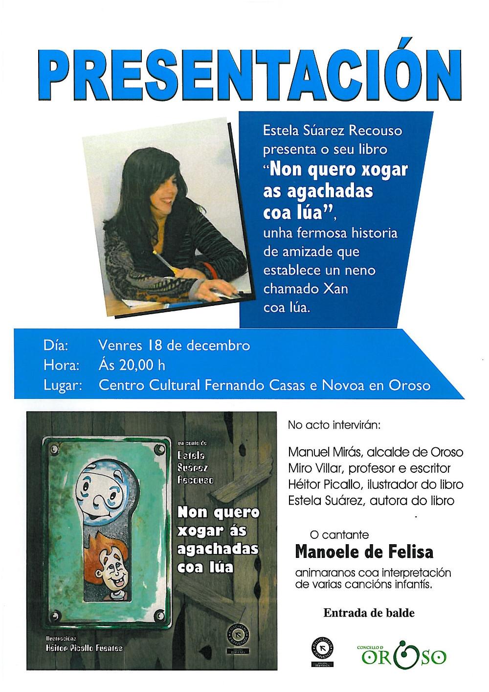 Cartel presentación Estela Suárez