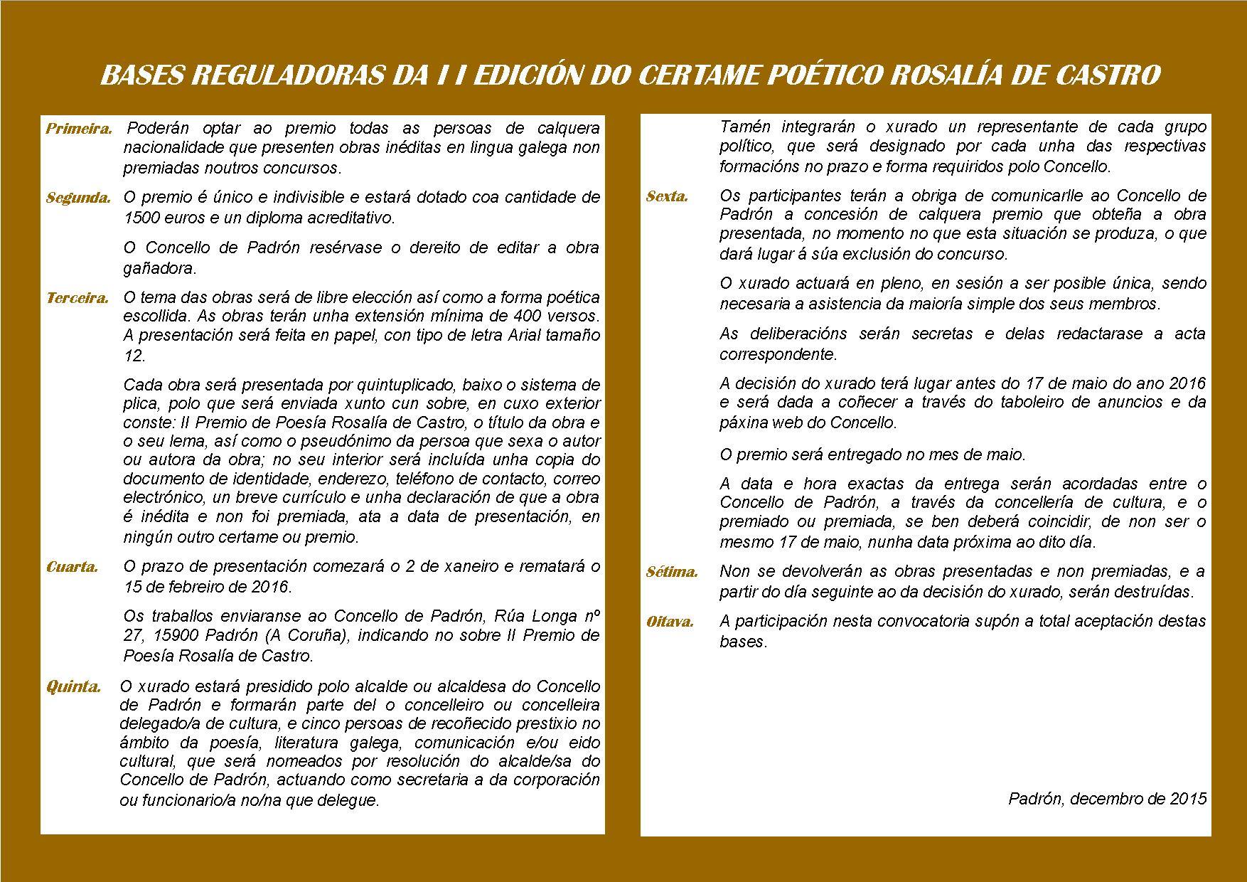 DIPTICO PREMIO ROSALIA DE CASTRO