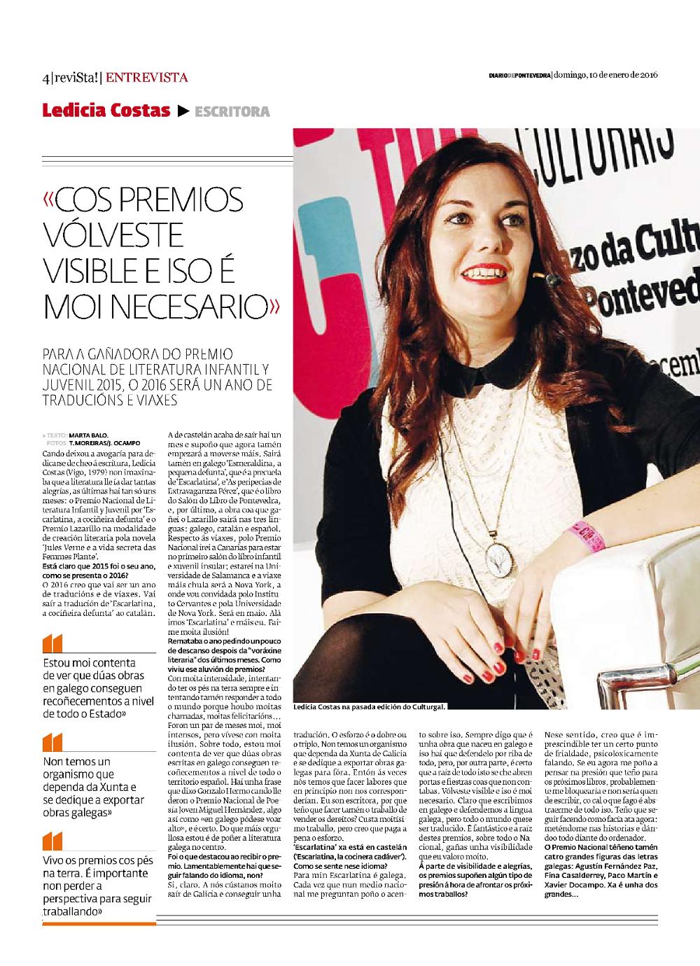 Entrevista a Ledicia Costas DP 1