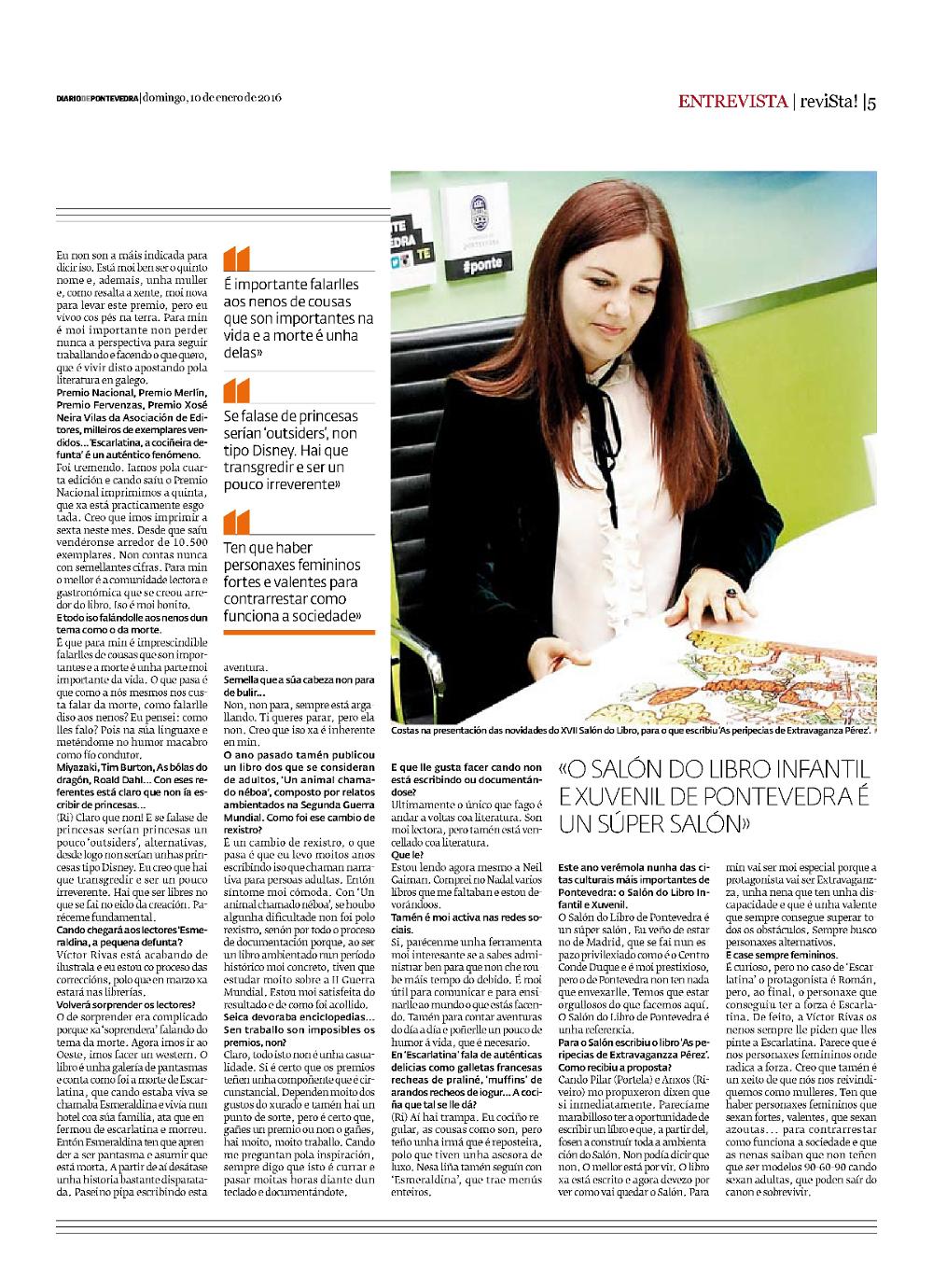 Entrevista a Ledicia Costas DP 2