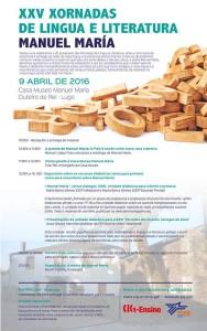 XXV Xornadas de Lingua e Literatura Manuel María