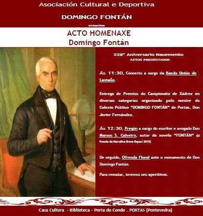 Homenaxe a Domingo Fontán Portas