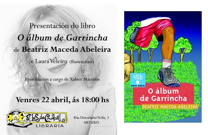 Tarxeta de presentación O álbum de Garrincha