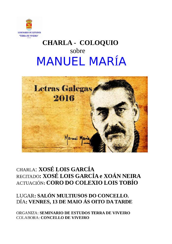 CARTEL_CHARLA MANUEL MARÍA