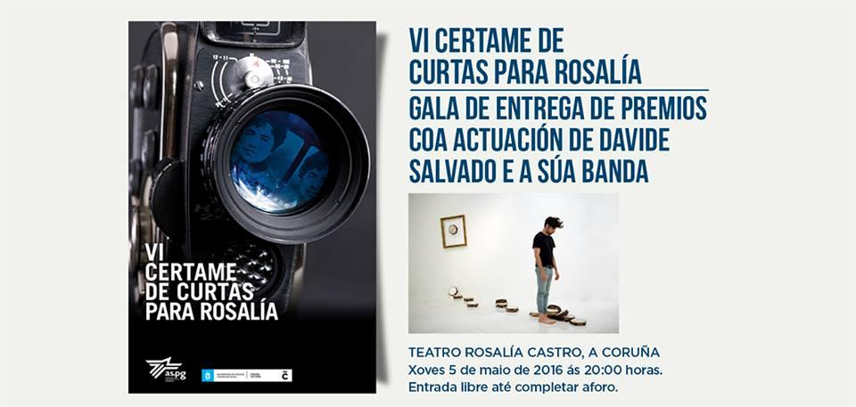 VI Certame de Curtas para Rosalía 2016