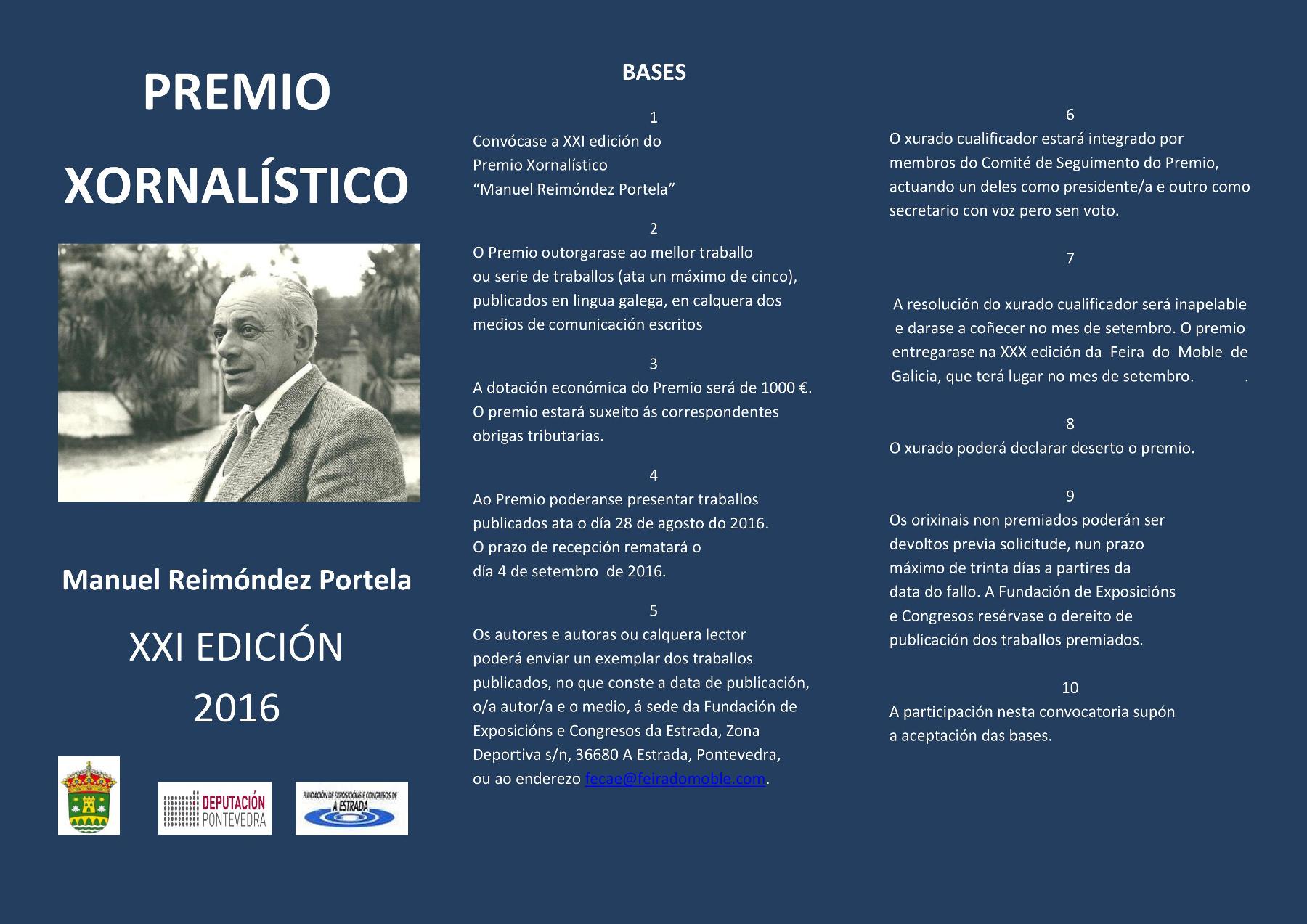 Premio Xornalístico Reimóndez Portela 2016