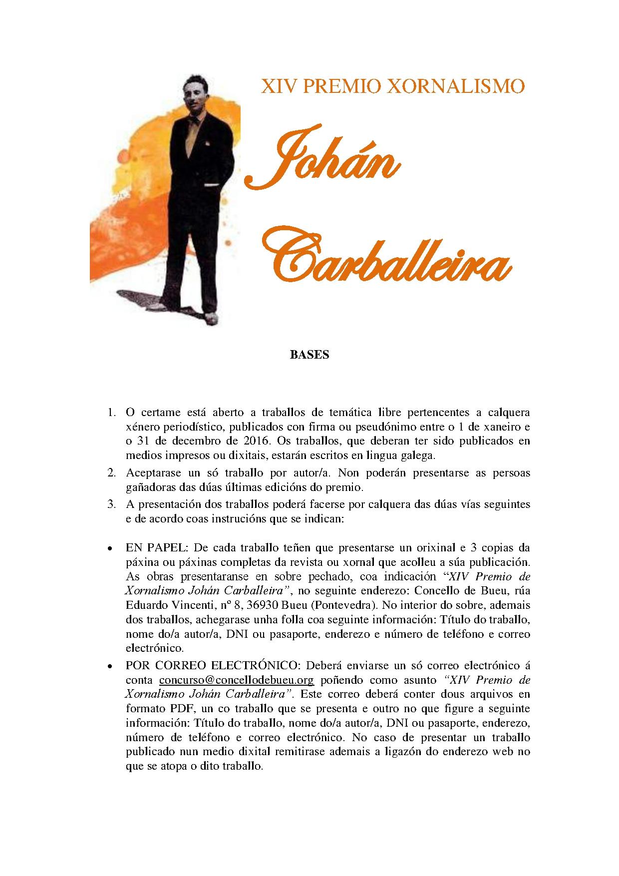 Premio Johán Carballeira xornalismo 2016 1