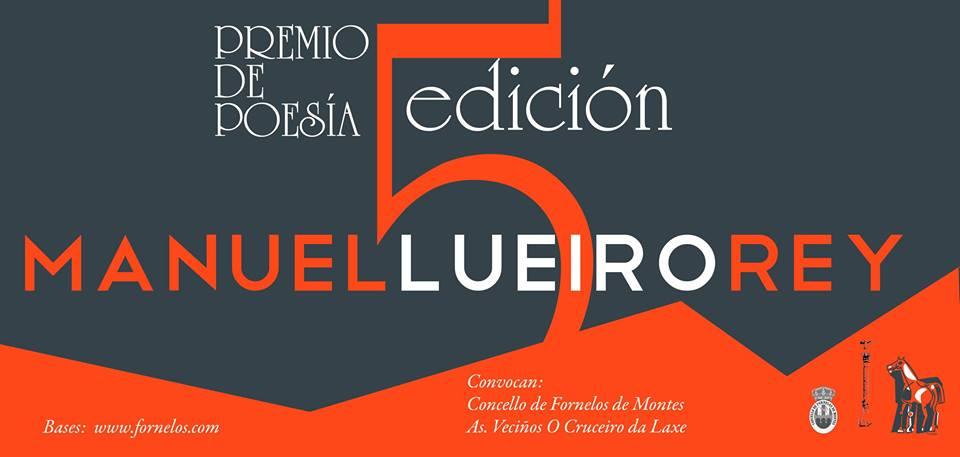 V Premio de poesía Manuel Lueiro Rey cartaz