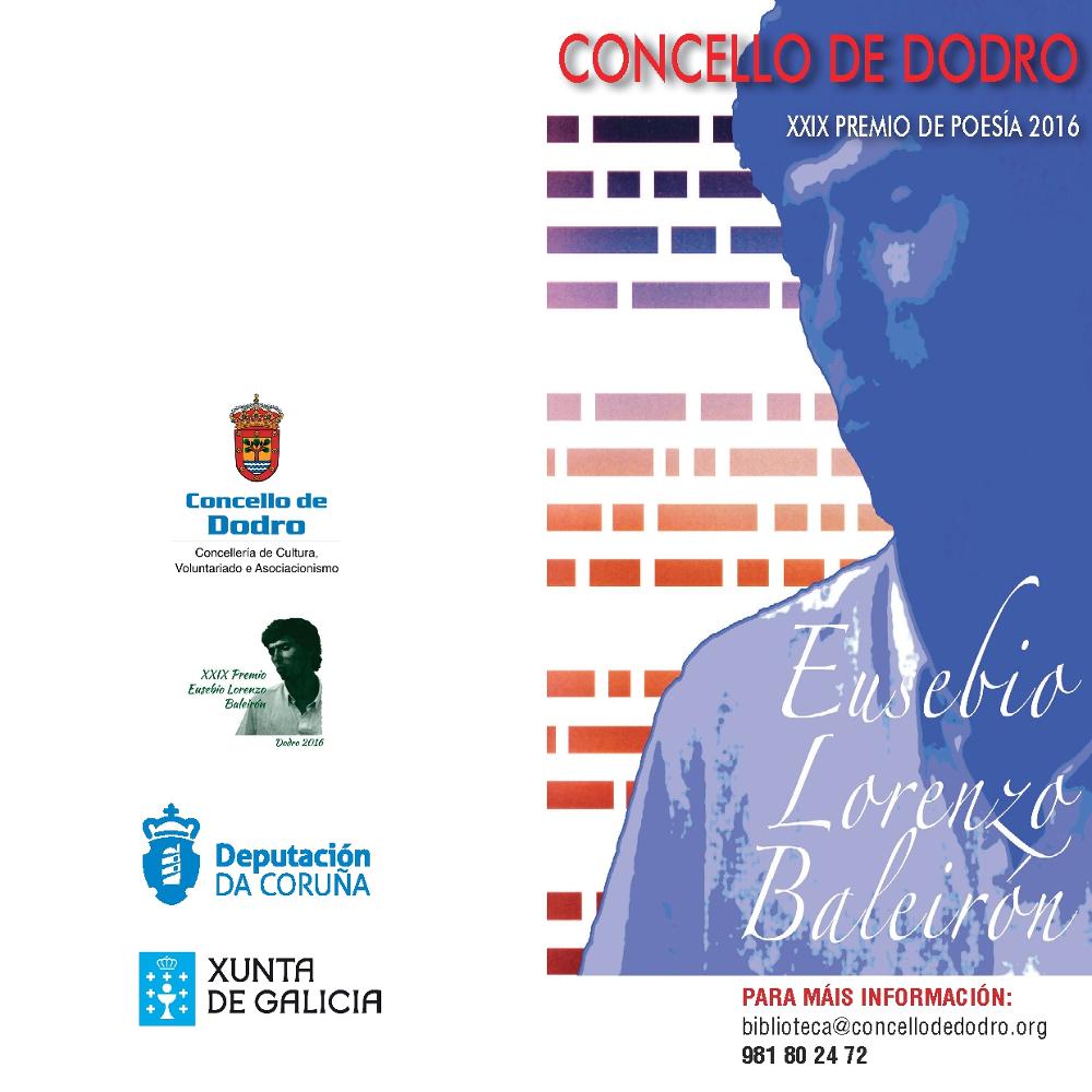 XXIX Premio Eusebio Lorenzo Baleirón 2016 1